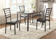 Homelegance Flannery 5pc Black Dining Table Set Available Online in Dallas Fort Worth Texas