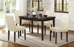 Homelegance Ahmet 5pc Espresso Dining Table Set Available Online in Dallas Fort Worth Texas