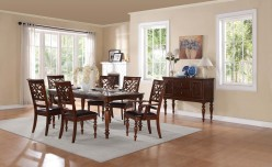 Homelegance Creswell 7pc Rich Cherry Dining Table Set Available Online in Dallas Fort Worth Texas