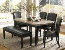Homelegance Cristo 5pc Black Dining Table Set Available Online in Dallas Fort Worth Texas