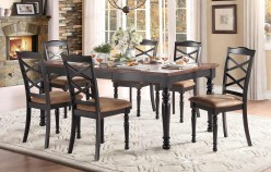 Homelegance Isleton 7pc Black Dining Table Set Available Online in Dallas Fort Worth Texas