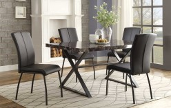 Homelegance Rancho Portola 5pc Black Dining Table Set Available Online in Dallas Fort Worth Texas