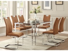 Homelegance Watt 7pc Brown Dining Table Set Available Online in Dallas Fort Worth Texas