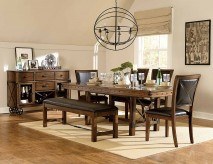 Homelegance Urbana 5pc Burnished Brown Dining Table Set Available Online in Dallas Fort Worth Texas