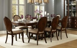 Homelegance Delavan 9pc Brown Cherry Dining Table Set Available Online in Dallas Fort Worth Texas