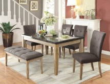 Homelegance Huron 5pc Natural Dining Table Set Available Online in Dallas Fort Worth Texas