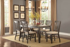 Homelegance Nantes 7pc Dark Brown Dining Room Set Available Online in Dallas Fort Worth Texas