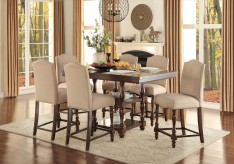Homelegance Benwick 7pc Dark Cherry Counter Height Dining Room Set Available Online in Dallas Fort Worth Texas