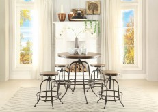 Homelegance Angstrom 5pc Black/Brown Round Counter Height Dining Room Set Available Online in Dallas Fort Worth Texas