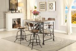 Homelegance Angstrom 5pc Black/Brown Counter Height Dining Room Set Available Online in Dallas Fort Worth Texas