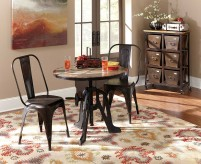 Homelegance Amara 3pc Brown Dining Iron Lift Table Dining Table Set Available Online in Dallas Fort Worth Texas