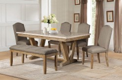 Homelegance Jamez 5pc Oak Dining Table Set Available Online in Dallas Fort Worth Texas