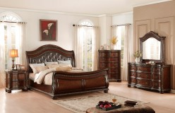 Homelegance Chaumont 5pc Burnished Brown Cherry Queen Bedroom Group Available Online in Dallas Fort Worth Texas