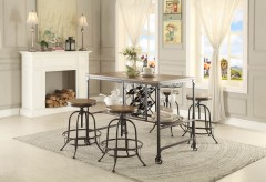 Homelegance Angstrom 5pc Black/Brown Rectangular Counter Height Table Set Available Online in Dallas Fort Worth Texas