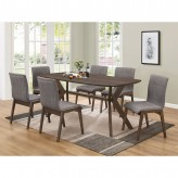 Coaster McBride 7pc Brown Dining Table Set Available Online in Dallas Fort Worth Texas
