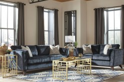 Amsterdam 2pc Midnight Sofa & Loveseat Set Available Online in Dallas Fort Worth Texas