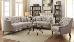 Avonlea 2pc Stone Grey Sofa & Loveseat Set Available Online in Dallas Fort Worth Texas