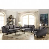 Coaster Rhys 2pc Dark Grey Sofa & Loveseat Set Available Online in Dallas Fort Worth Texas