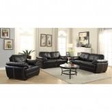 Coaster Zenon 2pc Black Sofa & Loveseat Set Available Online in Dallas Fort Worth Texas