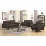 Coaster Kesson 2pc Charcoal Sofa & Loveseat Set Available Online in Dallas Fort Worth Texas