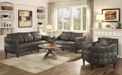 Coaster Braxten 2pc Grey Sofa & Loveseat Set Available Online in Dallas Fort Worth Texas