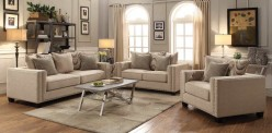 Coaster Lyonesse 2pc Beige Sofa & Loveseat Set Available Online in Dallas Fort Worth Texas