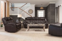Coaster Bevington 2pc Chocolate Sofa & Loveseat Set Available Online in Dallas Fort Worth Texas