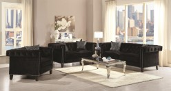 Reventlow 2pc Black Sofa & Loveseat Set Available Online in Dallas Fort Worth Texas