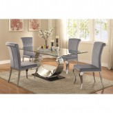 Coaster Manessier 5pc Chrome Dining Table Sets Available Online in Dallas Fort Worth Texas