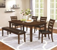 Coaster Maxwell 5pc Golden Brown Dining Table Set Available Online in Dallas Fort Worth Texas