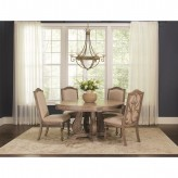 Coaster Ilana 5pc Antique Linen Round Dining Table Set Available Online in Dallas Fort Worth Texas