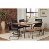 Coaster Chambler 5pc Natural Honey/Grey Dining Table Set Available Online in Dallas Fort Worth Texas