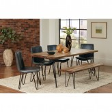 Coaster Chambler 5pc Natural Honey/Grey Rectangular Dining Table Set Available Online in Dallas Fort Worth Texas