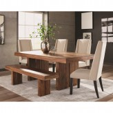 Coaster Hillsborough 5pc Honey Sheesham Dining Table Set Available Online in Dallas Fort Worth Texas