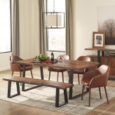 Coaster Jamestown 5pc Grey and Black Dining Table Set Available Online in Dallas Fort Worth Texas