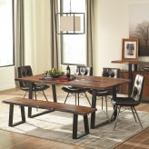 Coaster Jamestown 5pc Grey and Black Rectangular Dining Table Sets Available Online in Dallas Fort Worth Texas