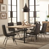 Coaster Thompson 7pc Natural Mango/Charcoal Dining Table Set Available Online in Dallas Fort Worth Texas