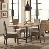 Coaster Thompson 5pc Natural Mango Dining Table Set Available Online in Dallas Fort Worth Texas