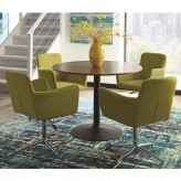 Coaster Montoya 5pc Yellow Round Dining Table Set Available Online in Dallas Fort Worth Texas