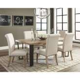 Coaster Taylor 7pc Vintage Rustic Pine Dining Table Set Available Online in Dallas Fort Worth Texas