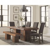 Coaster Binghamton 5pc Dark Grey Sheesham Dining Table Set Available Online in Dallas Fort Worth Texas