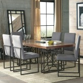 Coaster Chancelor 7pc Walnut Dining Table Set Available Online in Dallas Fort Worth Texas