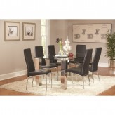 Coaster Bellini 7pc Chrome Dining Table Set Available Online in Dallas Fort Worth Texas