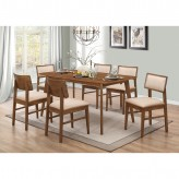 Coaster Sasha 7pc Walnut Rectangular Dining Table Set Available Online in Dallas Fort Worth Texas