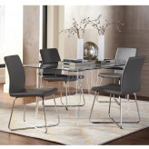 Coaster Michonne 5pc Grey Rectangular Dining Table Set Available Online in Dallas Fort Worth Texas