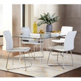 Coaster Michonne 5pc White Rectangular Dining Table Set Available Online in Dallas Fort Worth Texas