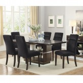 Coaster Lincoln 7pc Dark Walnut Rectangular Dining Table Set Available Online in Dallas Fort Worth Texas