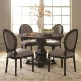 Coaster Dayton 5pc Antique Black Round Dining Table Set Available Online in Dallas Fort Worth Texas