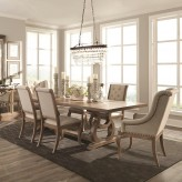 Coaster Glen Cove 7pc Weathered Extendable Rectangular Dining Table Set Available Online in Dallas Fort Worth Texas
