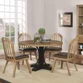 Coaster Bishop 5pc Round Dining Table Set Available Online in Dallas Fort Worth Texas